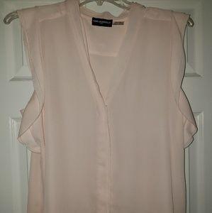 Pale, Pink Sleeveless Blouse